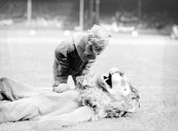 Football; Detroit Lions; Mascots. -William (Moon) Baker & Blanche Verhougstrate