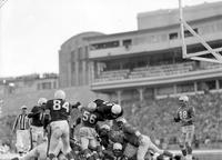 "Football; Detroit Lions; Action 1956; Vs San Francisco 49ers. -""They Shall Not Pass"""