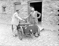 Ford Motor Company; Anniversaries; 40th. -Henry Ford & James Bishop with First Ford