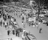 Foreign colonies; Chinese. Demonstration against Japanese atroCities