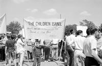 Jews; Detroit. Rally for Israel. At outbreak of war between Israel and Arab forces