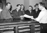 Labor Unions; Auto; UAW; Officials. Richard T. Leonard, Earnest Goodman, Jos. Rubin, Norman Matthews, Harry Anbender & Jas. E. Lane