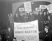 Labor Unions; Auto; U. A. W. ; Detroit. -Meeting at Moose Temple. -Meeting at Southeastern High. -U. A. W. Convention