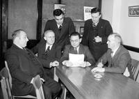 Labor Unions; Auto; United Workers Union; Officials. Ed Hall, Wynadham Mortimer, Homer Martin, John Borphy, Leo Krzycki