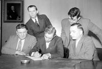 Labor Unions; Gas & By Product Coke Workers Union; Officials. Al Heffferan, Jack Dunleavy, Jack Lanning, James Clark & Martin Wagner