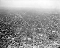Detroit; East Side; Brush; Beaubien; St. Antoine and Hastings Street Looking North. - Airphoto