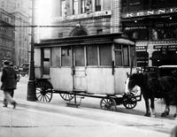 "Lunch Wagons; ""Owl"", ""Little Pontchartrain"", Etcetera. -Old Lunch Wagon at Michigan & Griswold"
