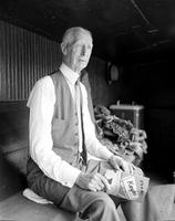 Mack, Connie; Baseball Manager; Philadelphia Athletics; Individual. -In Dug Out