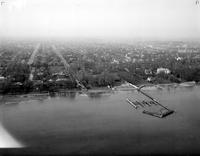 Michigan; Cities; Grosse Pointe Park. Miscellaneous. Aerial View of Lake