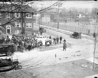 Michigan; Cities; Highland Park. Cortland Avenue. tunnel under street for children.