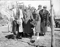 Michigan; Cities; Royal Oak. history. Mrs. Thos. Marshall - Mrs. John Rondell - Louisa Merriweather - N. J. Quickstad - Rev. john C. Young - E. M. Shafter - floyd Miller - Planting Our Tree