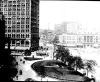 Old Detroit: Streets: Campus Martius. - About 1909