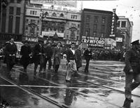 Parades; Armistice Day; Detroit. Date is 1940