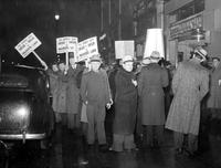 Picketing; Detroit. Picketing at Pearlman's Bakery