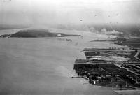Rivers; Detroit; Showing Belle Isle; Aerial View