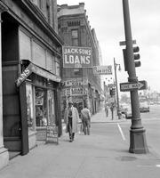 Skid Row; Poverty.--Third & Michigan.--Grand River at Pine.--Brush looking toward Larned.--Beaubien & Brush.--Michigan at Park Place.--Brush & Jefferson.--Larned & Brush.--Temple at Cass.--Third betw. Selden & Tuscola.--Beaubien & Gratiot. 16 negs.