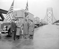 Wars; World; # 2; Transportation; United States. Joe Goodman, Mayor Jeffries, Arthur Mason, and Frank Gough