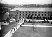 schools; Cranbrook School for Boys. exterior views showing campus & fountain.