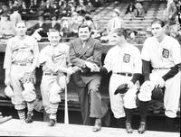 Ruth, Babe; Baseball; Groups; World Series. With Jerome Dean; Frank Frisch; Gord Cochrane & Lynwood Rowe.