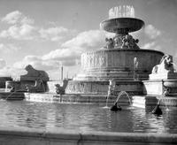 Belle Isle; Scott Fountain. Views of finished fountain