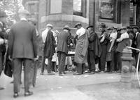 Vaccination; Detroit; People in Foreign Colonies Standing in Line in the Street