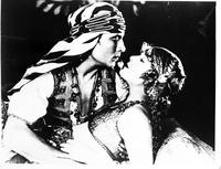 "Valentino, Rudolf; Actor. with Wilma Banky. copy of Film Still from ""The Sheik"""
