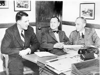 Bennett, Harry H. ; Director In Charge Of Adm. Ford Motor Company. With Henry Ford & Henry Ford II. 1 neg.