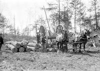 Lumbering; Michigan; Logging Wheels