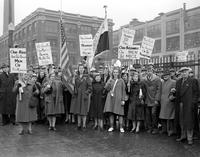 Picketing;  Detroit; Dodge Plant. Women Picketing Dodge Plant