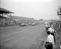 "Automobiles; Races; Indy-Race Cars. -At Michigan State Fairgrounds. -""Indy"" is Short Form for Indianapolis"