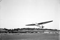Aeronautics; Gliders; Meets; 1939; National Glider Meet at Frankfort Airport. -Elmer Meeker and Bob McGregor towing