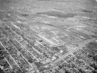 Business Houses; Briggs Body Manufacturing Plant; Gladwin and Mack. - Airphoto.