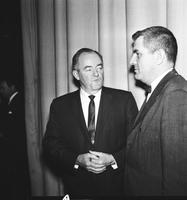 Humphrey, Hubert H. ; US Senator From Minn. . Candidate for US Vice President. Date is 1964