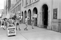 Homosexuals; gay pickets outside of Chancery Bldg. (In support of homosexual Brian McNaught)