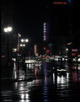 Detroit; Streets; Michigan Avenue; Night Scene.
