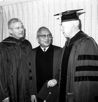 Fleming, Robben W. ; President; University of Michigan  & Family. With U Thant & Dr. Harlan Hatcher.