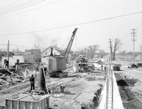 Work Projects Administration; Projects. Building viaduct at West Road crossing in Trenton