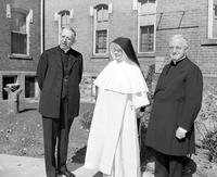 Catholics; Orders: Dominican Sisters. Golden jubilee of St. Joseph's academy at Adrian, MI. With Arch Bishop Mooney, Archbishop McNicholas & Pioress General Mary Gerald Barry.