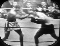 Boxing Matches; Sugar Ray Robinson vs. Jake Lamotta. -Photos Taken from the Television