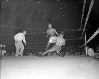 Boxing; Matches; Sugar Ray Robinson vs. Charles Taylor. -Charles Taylor Tries to Get In Fight