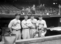 Boudreau, Louis; Manager; Cleveland Indians; Groups. With George Susce, Bert Shotton & Oscar Mellillo. With Tris Speaker.