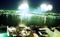 Fireworks; Freedom Festival; Detroit. Dates are 1982 & 1984