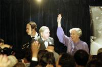 Griffiths, Martha; Lt. Governor of Michigan. With Gov. James Blanchard on election night.