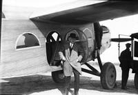 "Aero; Aeronautics; Aircraft; Ford; ""Maiden Dearborn II"". -Close up of plane. -Henry Ford standing beside plane. -Wm. B. Mayo standing beside plane. -In flight. see also - Henry Ford"