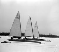 Boats; Races; Iceboats. Toronto Boats; Bill Gooderham, Paul McLaughlin, and Gordon Reid