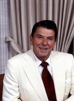 Reagan, Ronald; United States Presidential Candidate. former Governor of California. & wife Nancy in Salt Lake City, Utah.