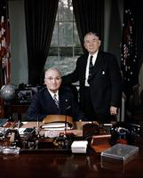 Truman, Harry S; United States President. -With; Alben W. Barkley