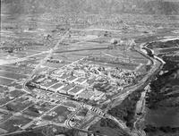 Business houses; Warner Brothers and First National Studios. Burbank, Califronia. after fire