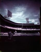 Baseball; Detroit; Briggs Stadium. crowds