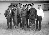 Prohibition; Customs Patrol Officers. Clinton River base. -group shot. 1 - 4x5 glass